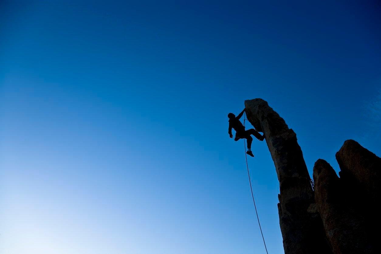 Bold IT leader CIO rock climber2
