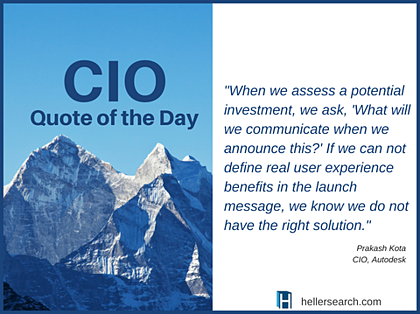 CIO Quote-investment launch message