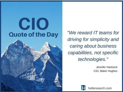 CIO Quote-simplicity and bus capabilities