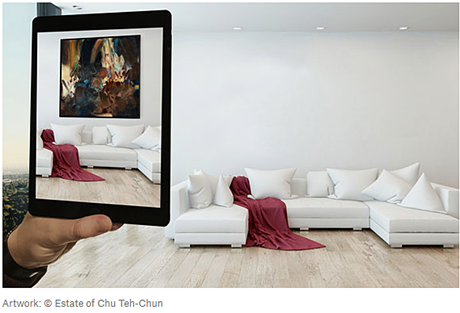 Augmented reality app by Christies