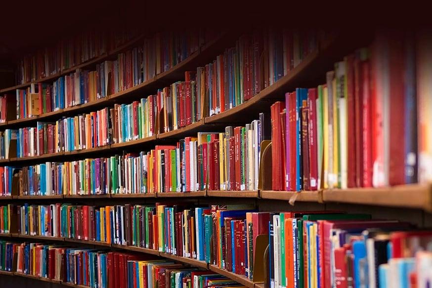 Curved bookshelf books lg2