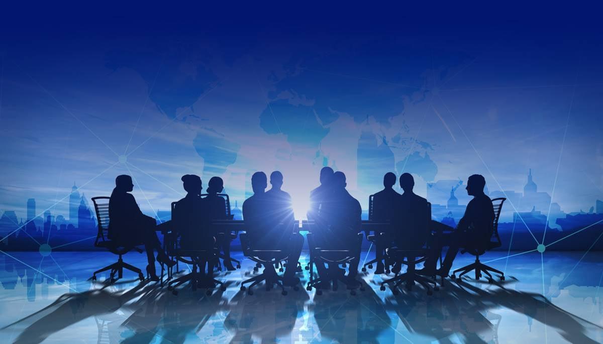 boardroom blue sillouette