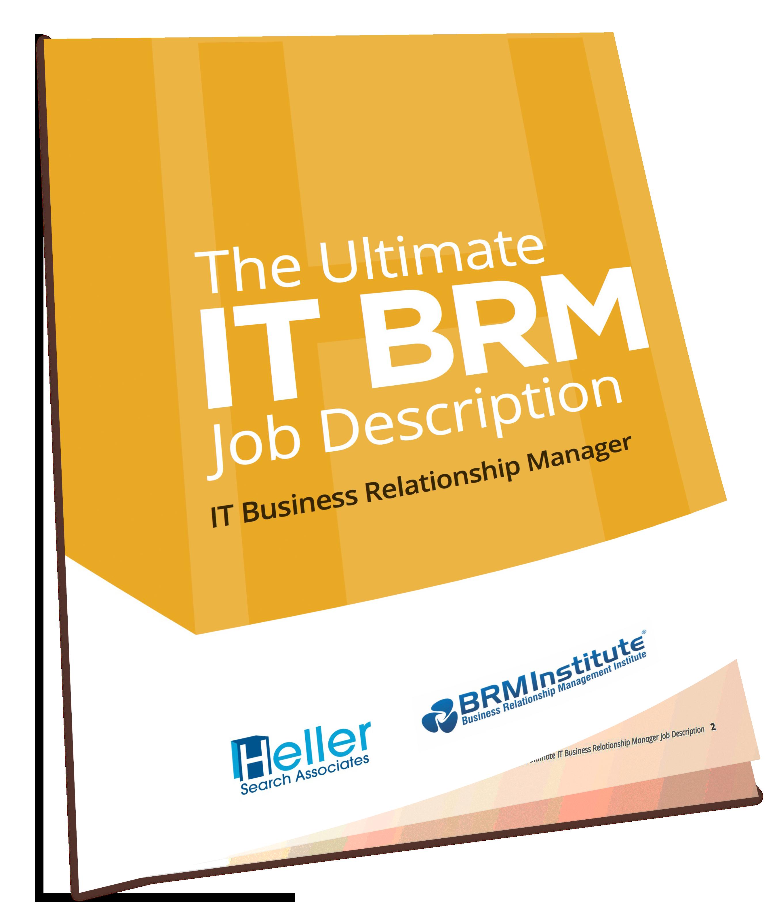 Ultimate IT BRM Job Description eBook Heller Search