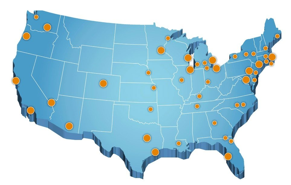 Heller Search Industries and Locations Served