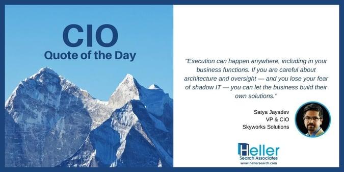 CIO Quote by Satya Jayadev, Skyworks